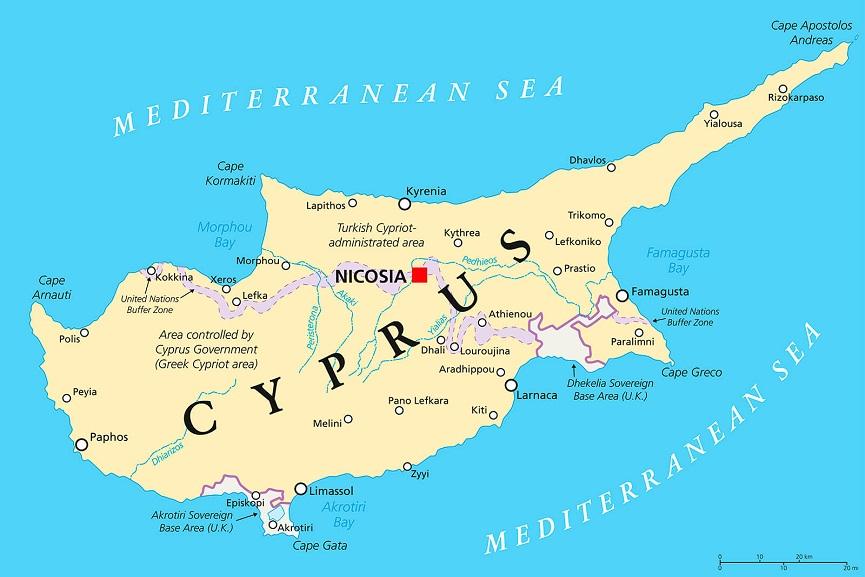 Diện tích Síp(Cyprus)